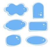 Vector conjunto de rótulos azuis. — Vetorial Stock
