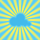 Vector sun rays and cloud. — Stock Vector
