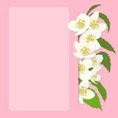 Вектор открытка с сакуры. — Cтоковый вектор