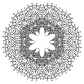 Vector round ornament. — Stock Vector