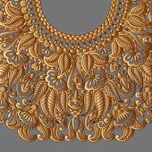 Ornament wektor złoto. — Wektor stockowy