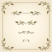 Vector decorative elements. — Stock Vector