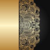 Ornamento de ouro vector. — Vetor de Stock