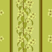 Vector seamless floral background. — Vector de stock