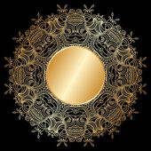 Vector gold ornament. — Stock Vector