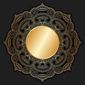 Ornamento de oro vector. — Vector de stock
