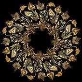 Vector gold ornament. — Stock Vector