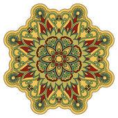 ベクトルの丸い飾り. — ストックベクタ
