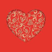 Vector heart. — Stock Vector