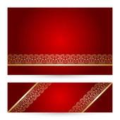 Vetor definido com padrão floral vintage lace. — Vetor de Stock