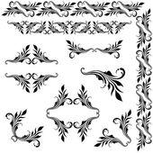Vector set of borders, decorative elements. — Stock Vector