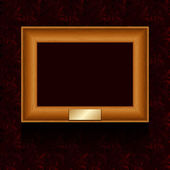 Vector picture frame on wall. — Stock Vector