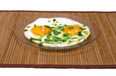 Fried eggs. — Stock Photo
