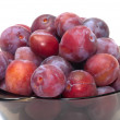 Stock Photo: Crop of plums.