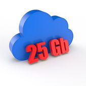 Cloud 25 gigabytes — Stock Photo