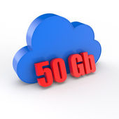 Cloud 50 gigabytes — Stock Photo