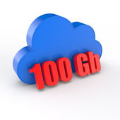 Cloud 100 gigabytes — Stock Photo