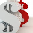 Dollar signs of white color — Stock Photo #4751232