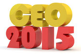 Red and yellow  inscription of CEO — Foto de Stock