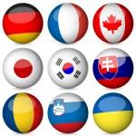 National flag ball set 3 — Stock Vector #11072915