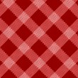 Red realistic fabric pattern — Stock Vector