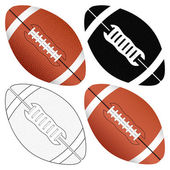 Football ball set — Stock Vector