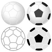 Soccer ball set — Stock Vector