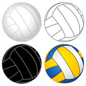 Volleyball ball set — Stock Vector