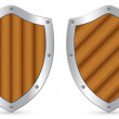 Shields - Stock Vector