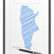 Stock Vector: Clipboard Argentina map