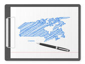 буфер обмена канада карта — Cтоковый вектор
