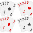Playing cards set — Stockvektor