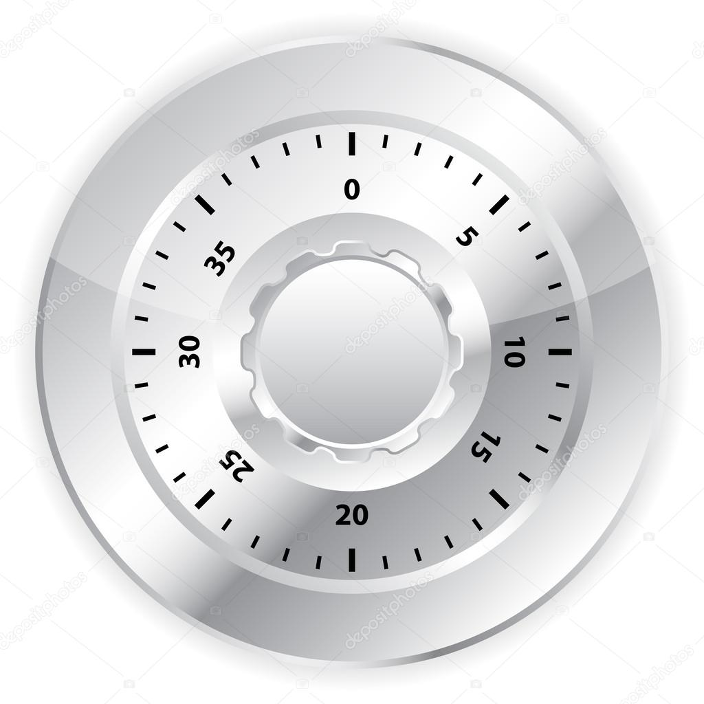 Combination lock on white background. Vector illustration. — Stock Vector #13368276