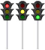 Isolated traffic light — Vector de stock