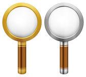 Magnifier set — Stock Vector