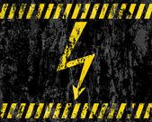 Fondo de señal grunge de alto voltaje — Vector de stock