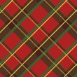 Stock Vector: Realistic scottish textile