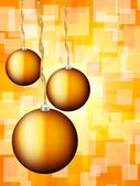 Christmas balls abstract bokeh — Stock Vector