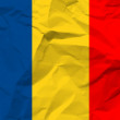 Royalty-Free Stock Vector Image: Crumpled paper Romania flag