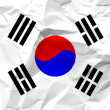 Royalty-Free Stock Vector Image: Crumpled paper South Korea flag