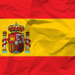 Crumpled paper Spain flag — ストックベクタ