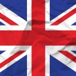 Crumpled paper UK flag - Stockvectorbeeld