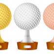 Golf trophy set — Stock Vector