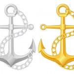 Anchor set — Stock Vector