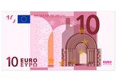 Ten euro banknote — Stock Vector