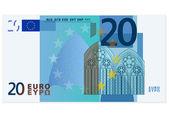 Twenty euro banknote — Stock Vector