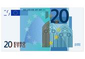 Twenty euro banknote — Stock Vector