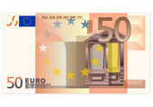 Fifty euro banknote — Stock Vector