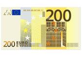 200 euro banknot — Stok Vektör