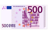 Beş yüz euro banknot — Stok Vektör